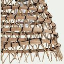 Suspension non électrifiée en fibre de palmier - naturel H22xD24cm-ORIA