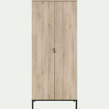 Colonne de rangement 2 portes finition chêne-CASTEL