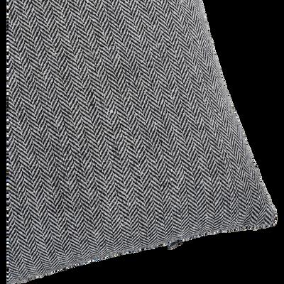 Coussin tissé à motif chevron 45x45cm-CHAUMONT