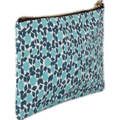 Pochette en tissu motif zelliges - 12x23 cm-ZELLIGES