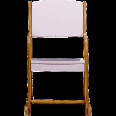 Rocking-chair en acacia pour enfant rose-RAPHAEL