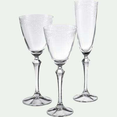Flûte à champagne en cristallin 20cl-LUME