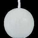 Bougie ronde blanc ventoux D8cm-BEJAIA