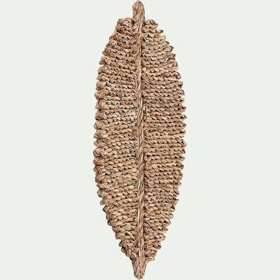 Napperon en feuilles de zostère - marron 33x55cm-PIOU