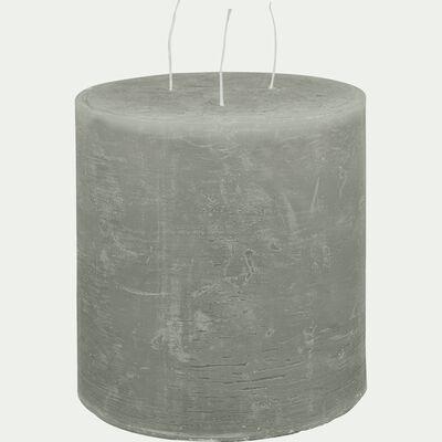 Bougie lanterne vert olivier D15xH15cm-BEJAIA