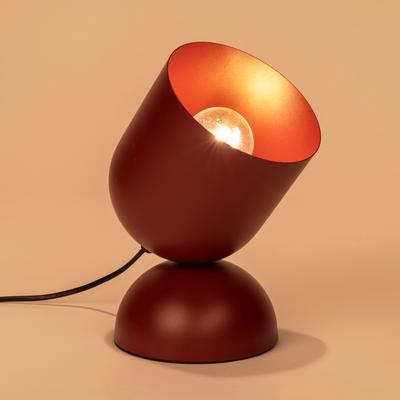 Lampe à poser en métal rouge sumac H25,5cm-PALMIR