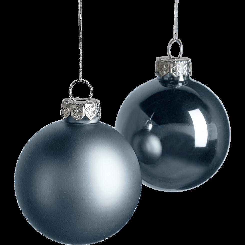 Boules en verre gris 10 pièces D6cm-corvisan