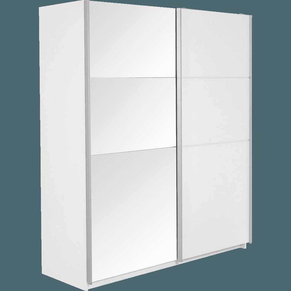 Armoire 2 portes coulissantes blanc slidy catalogue storefront alin a alinea - Alinea armoire porte coulissante ...