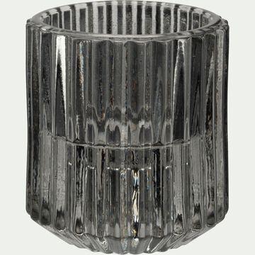 Photophore en verre - vert olivier H6cm-Lumio