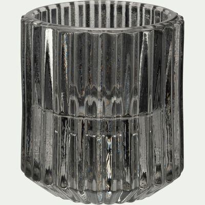 Photophore en verre H6 cm Vert olivier-Lumio
