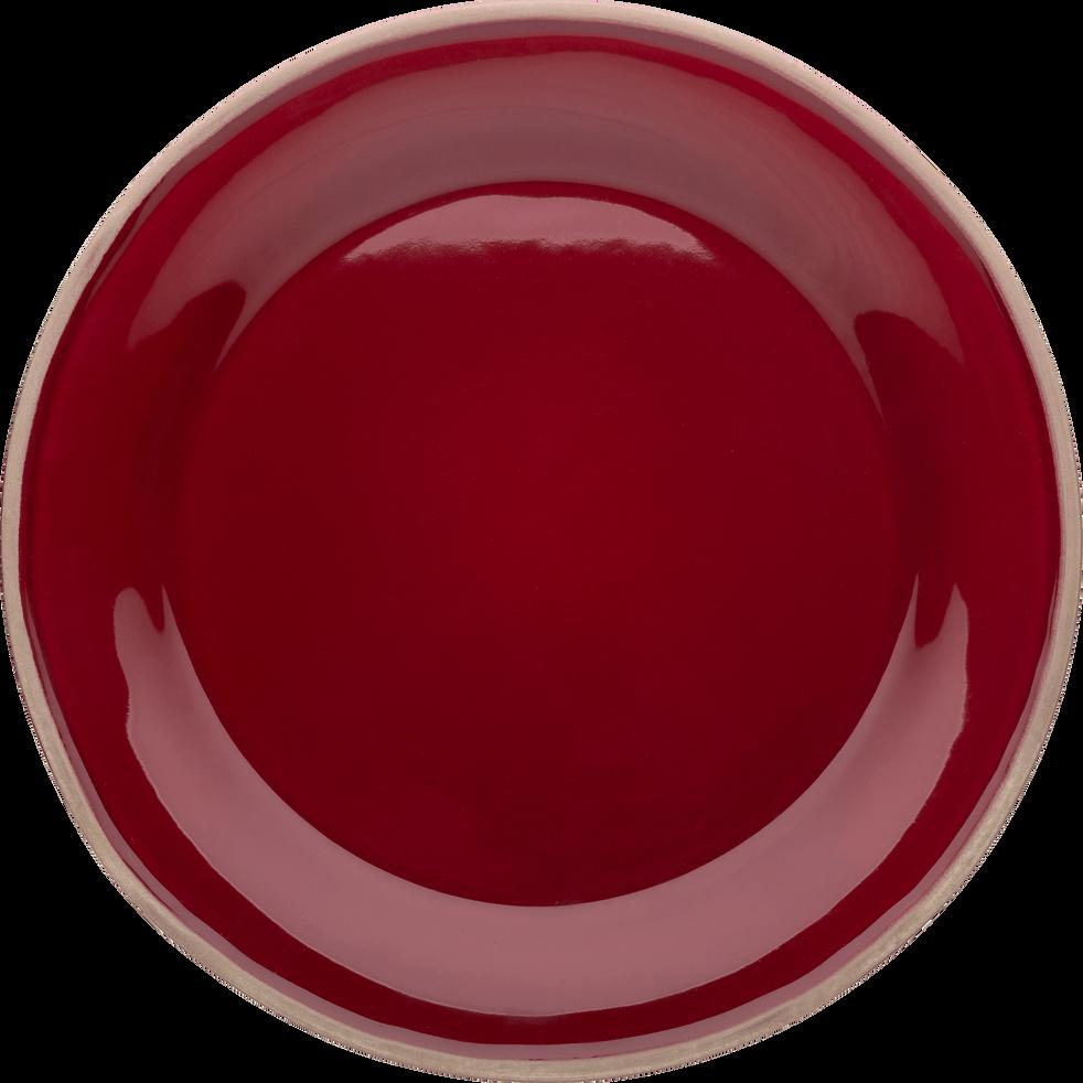 Assiette à dessert en faïence rouge sumac D22cm-LUBERON