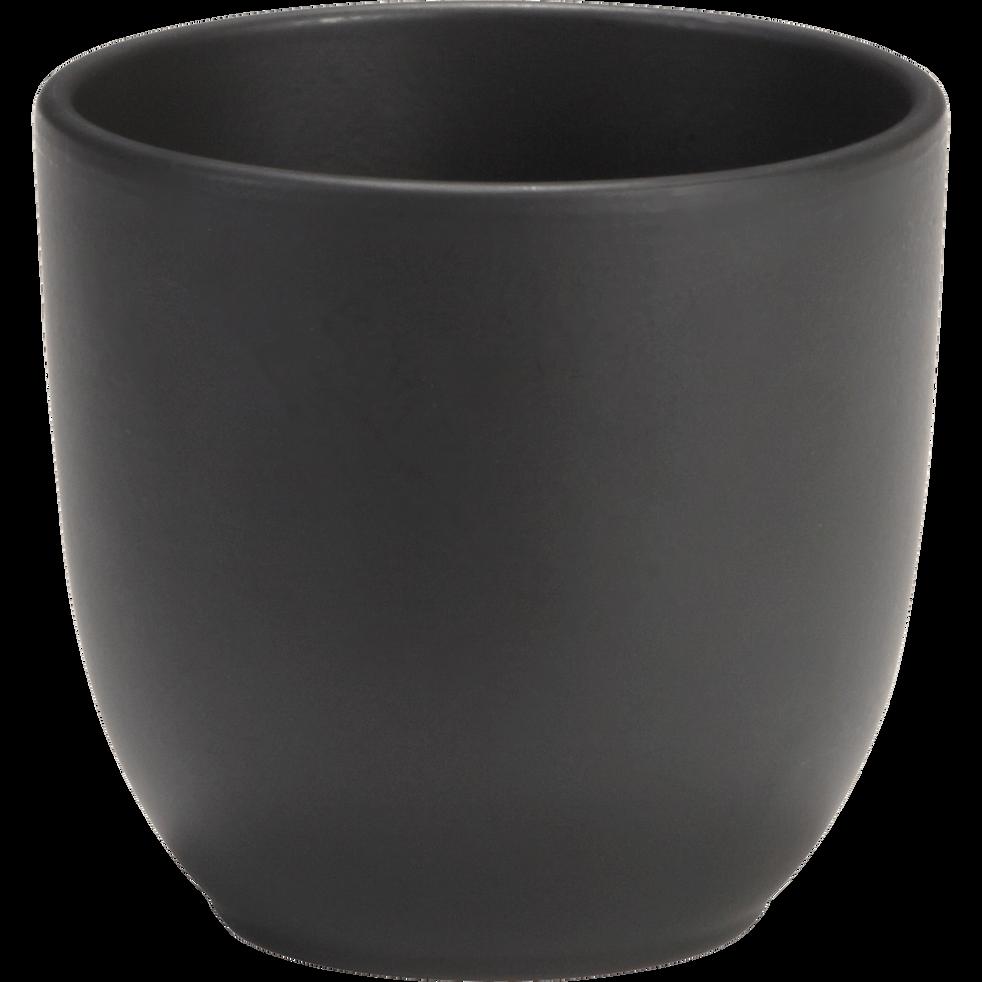 Cache-pot noir mat en céramique (plusieurs tailles)-TUSCA