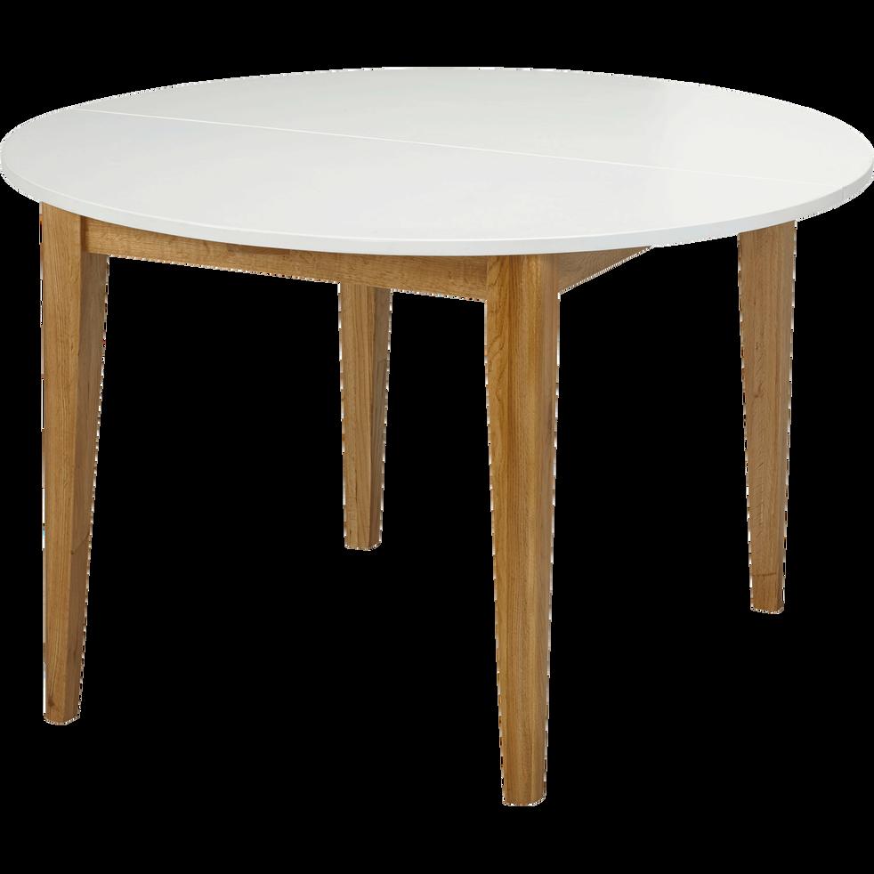 table de repas extensible blanche 4 8 places siwa. Black Bedroom Furniture Sets. Home Design Ideas