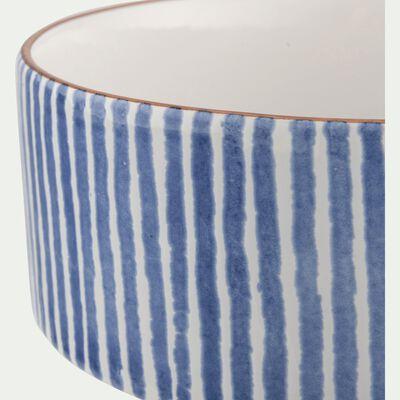 Saladier en faïence - bleu D24cm-MARRA