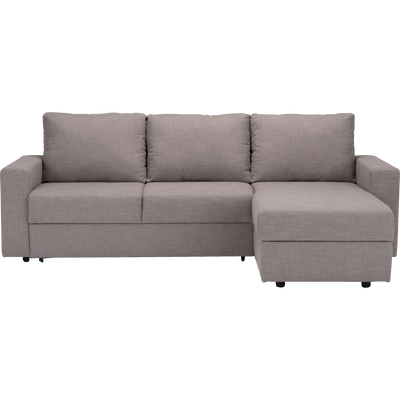 Canapé d'angle réversible convertible en tissu gris restanque-FERNAND