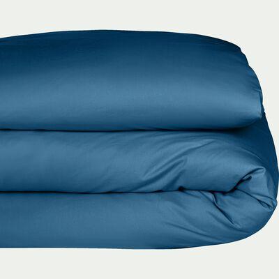 Housse de couette unie en coton bleu figuerolles-CALANQUES
