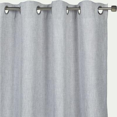Rideau à œillets en polyester - gris clair 140x250cm-CADOLIVE