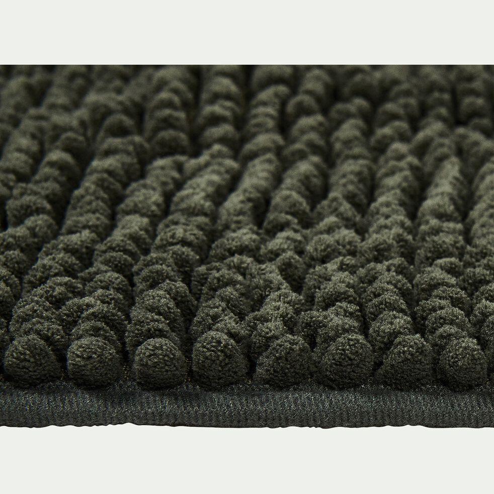 Tapis de bain rectangulaire antidérapant - l50xL120cm vert cèdre-Picus