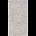 Tapis extérieur et intérieur écru 60x110cm-HYPNOSE