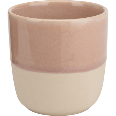 Mug en grès rose 25cl-SANTAL