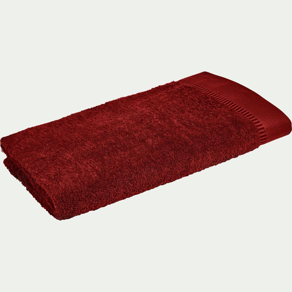 Drap de douche bouclette en coton égyptien - rouge sumac 70x140cm-ARROS