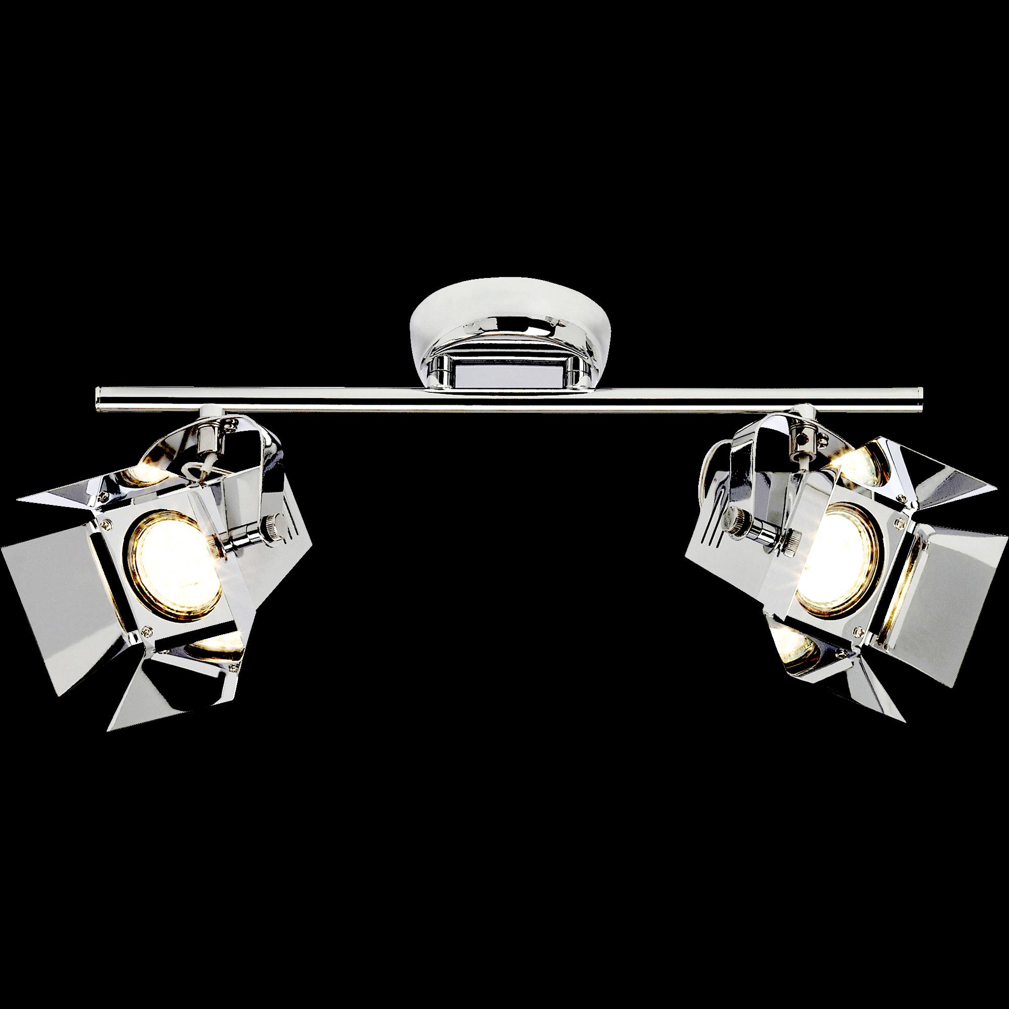 Spot En Métal Chromé L37cm à 2 Lumières MOVIE
