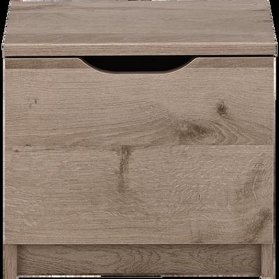 Table de chevet finition chêne cendré 1 porte-BROOKLYN