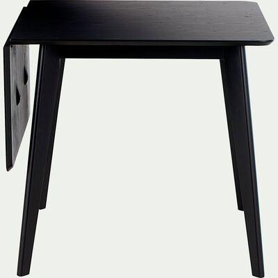 Table de repas extensible plaquée chêne noir - 2 à 4 places-LIVINO