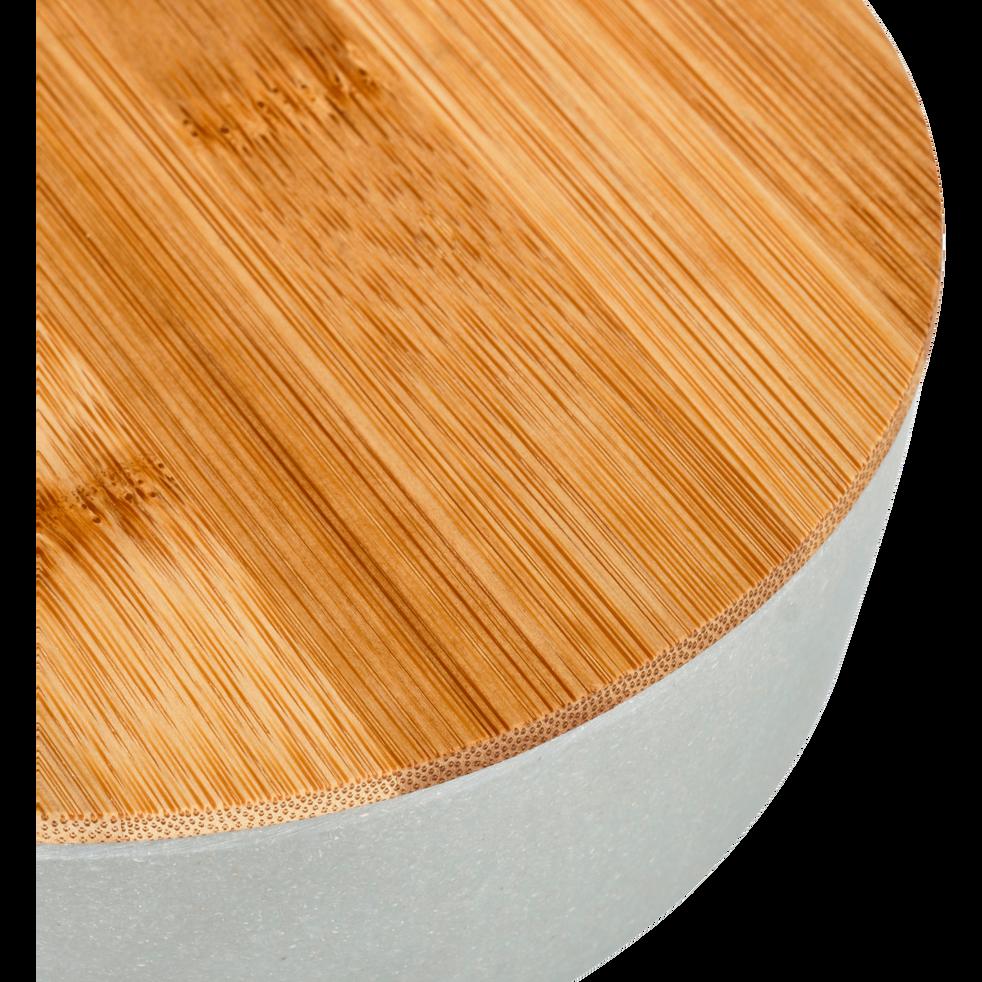 Saladier en fibre de bambou vert D25,5cm-TREZ