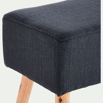 Banc en tissu gris - L100cm-SACHA