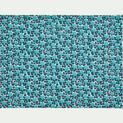 30 sets de table détachables en intissé bleu à motifs-ZELLIGES