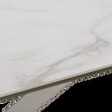 Table de repas revêtement céramique gris clair - 6 places-CAMARGUE