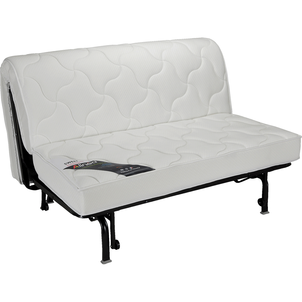 structure de bz 140cm avec matelas 15cm sweet canap s bz alinea. Black Bedroom Furniture Sets. Home Design Ideas