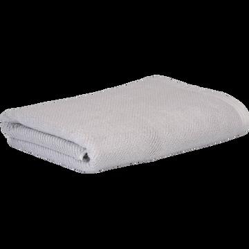 Drap de douche gris borie 70x130cm-COLINE