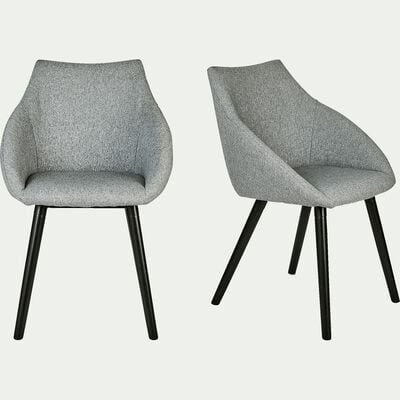 Chaise en tissu avec accoudoirs -  gris borie-NOELIE
