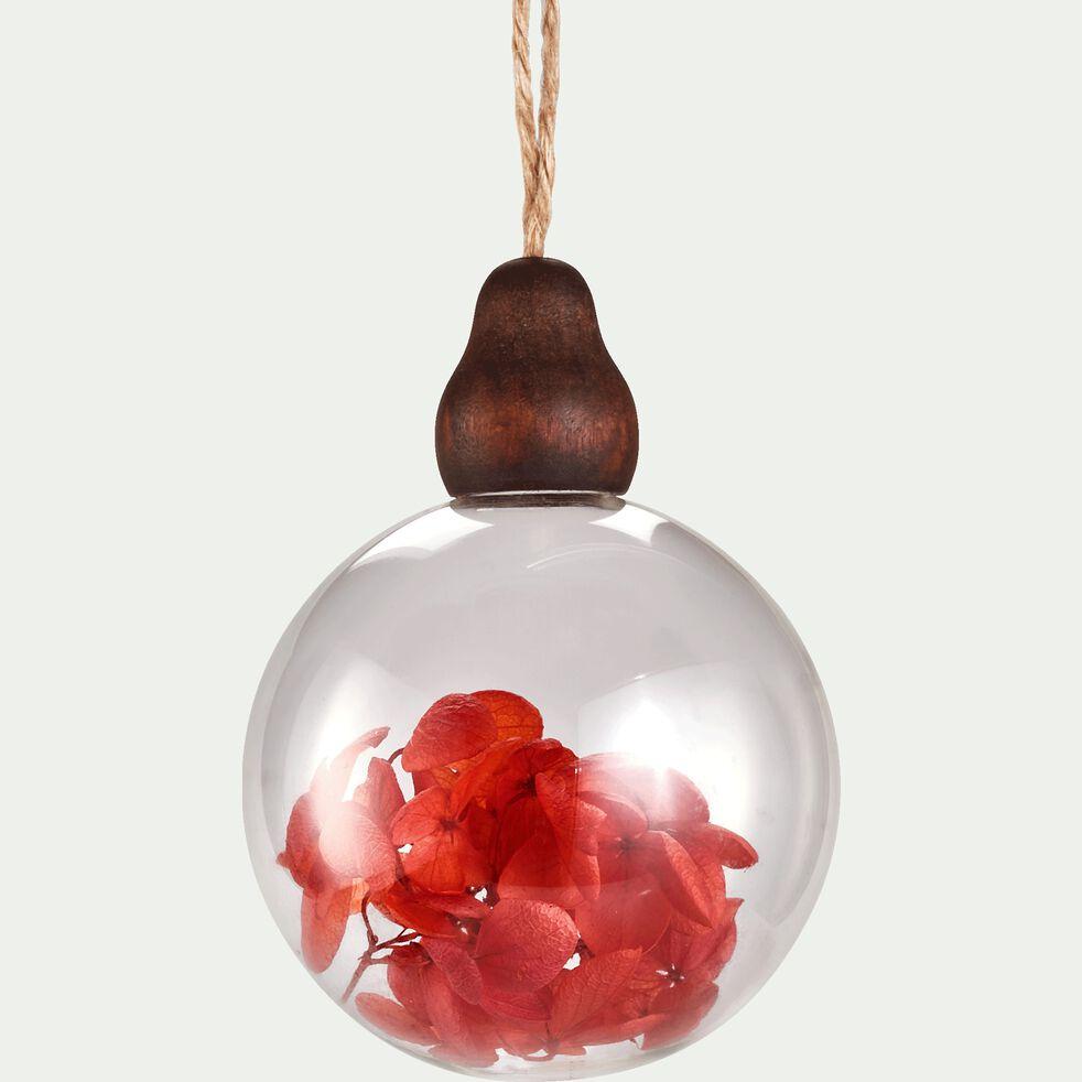 Suspension boule D8cm en verre - transparent-SOTER