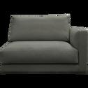 Élément de canapé 1.5 places droit modulable en tissu gris restanque-AUDES