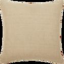 Coussin en lin orange rayé 45x45 cm-ORAN