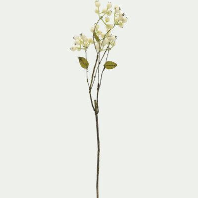 Tige de symphorine - blanc H46cm-BERRY