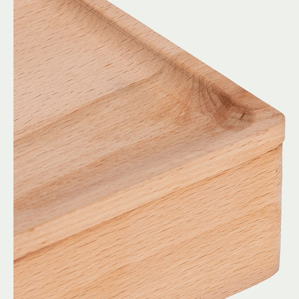 Boîte décorative en bois de hêtre - naturel L20xl12xH5cm-BIANCA