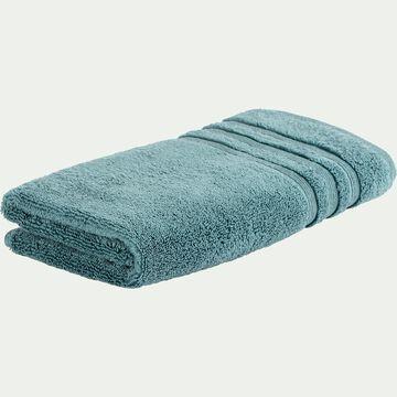 Serviette de bain bouclette en coton - vert 50x100cm-Noun