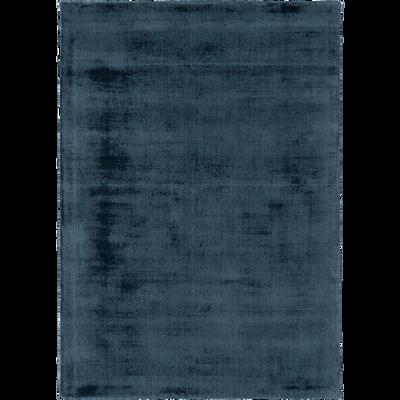 Tapis moiré bleu figuerolles - Plusieurs tailles-EDEN