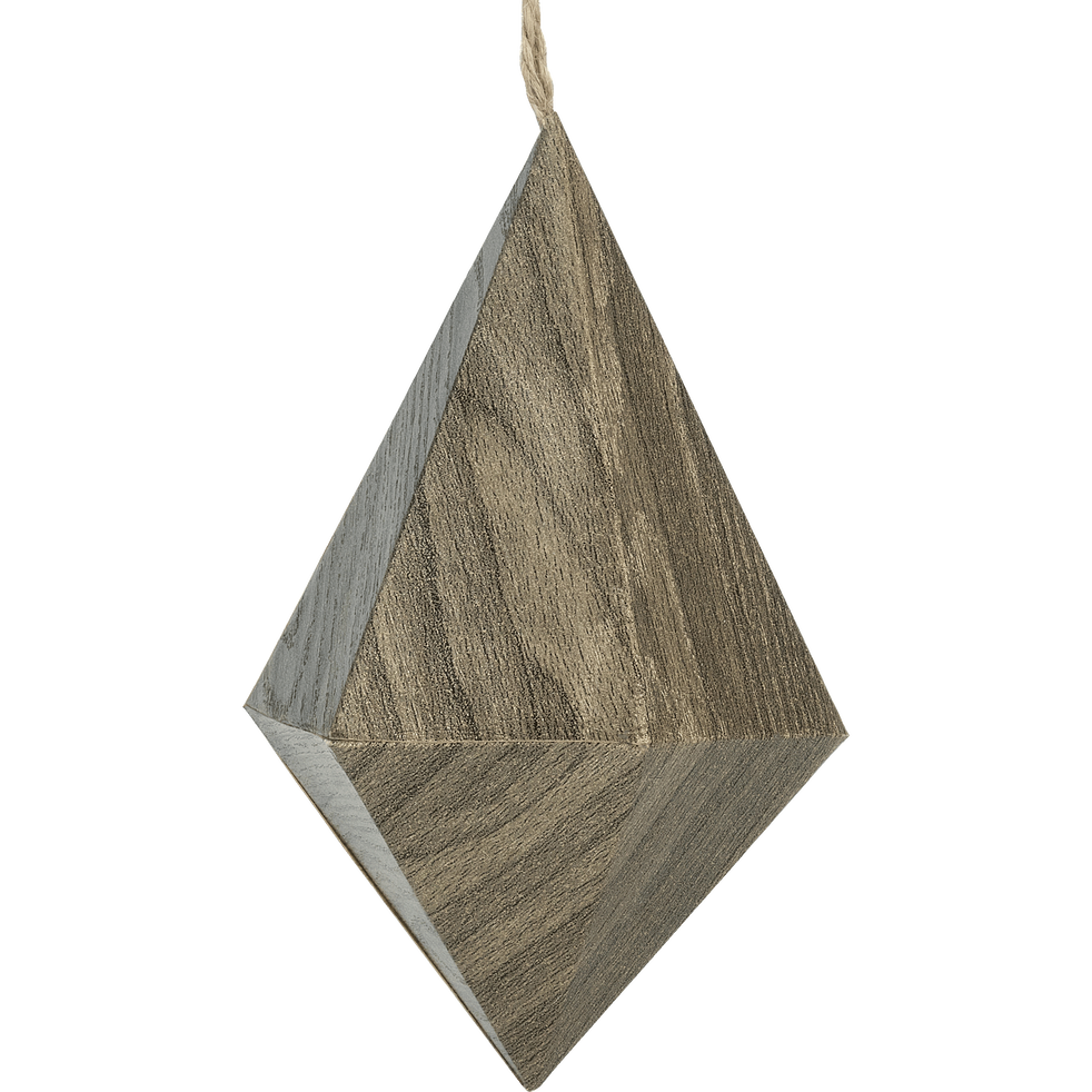 Suspension diamant en papier gris H13cm-GUIGOU