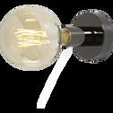 Applique plafonnier en acier noir H9,2cm-KELLY