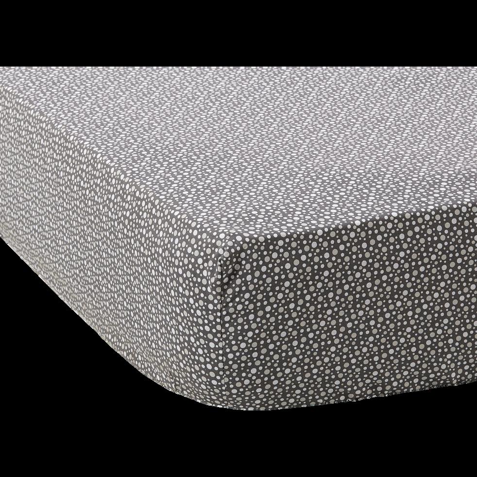 Drap housse en coton à motifs - 160x200 cm-DREAM