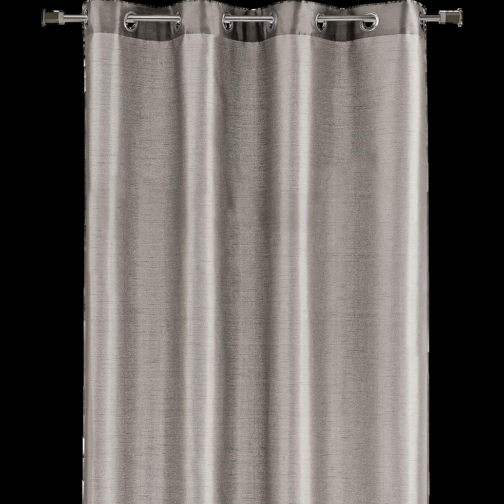 Rideau à œillets gris 140x250cm-SAGA