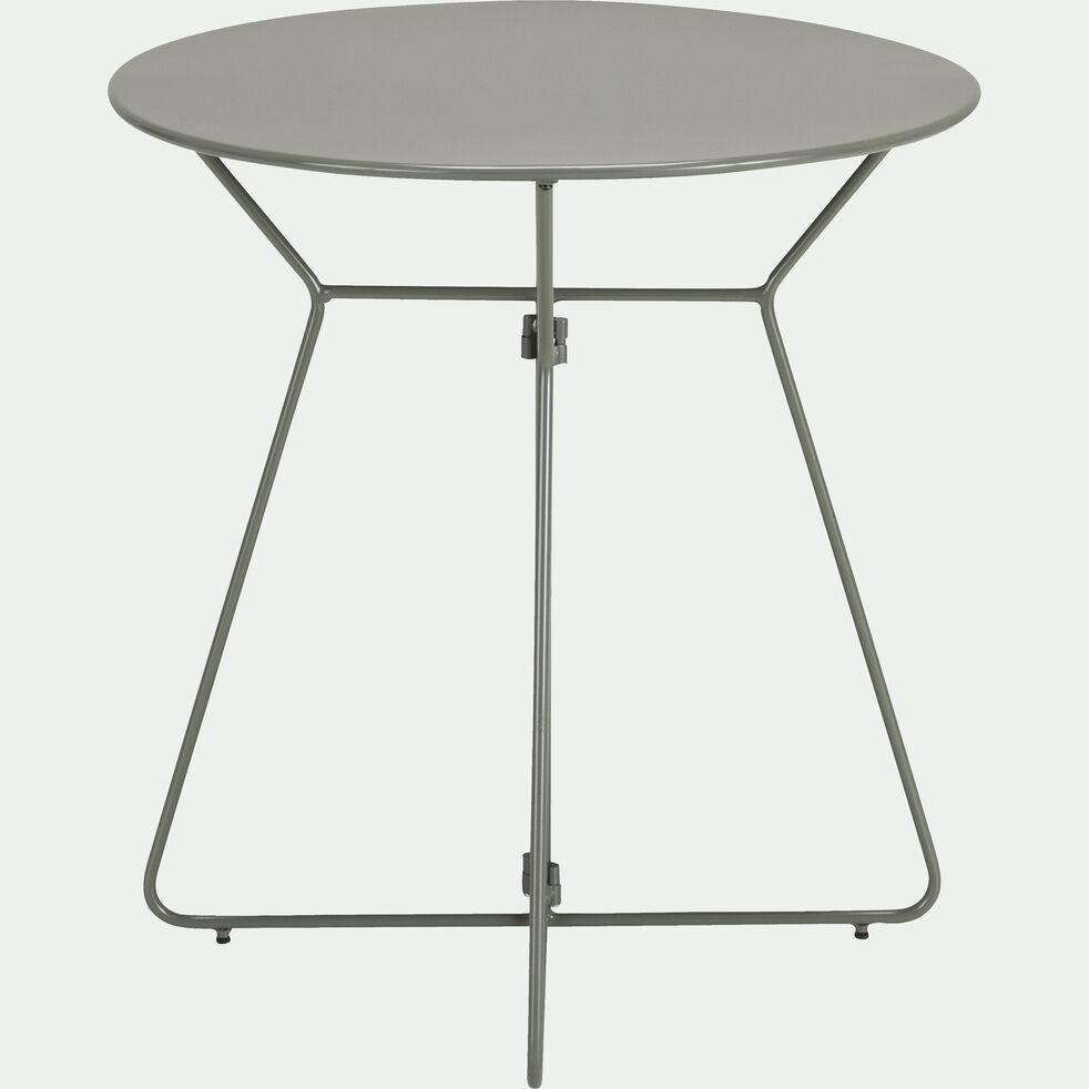 Table de jardin ronde vert cèdre (2 places)-Alexia