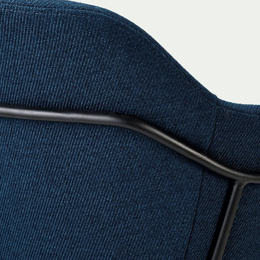 Chaise en tissu avec accoudoirs - bleu figuerolles-CHLOE