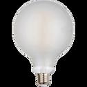 Ampoule LED verre dépoli D12cm blanc froid culot E27-GLOBE