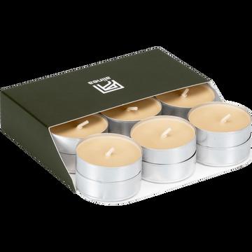 18 bougies chauffe-plats beige estérel-HALBA